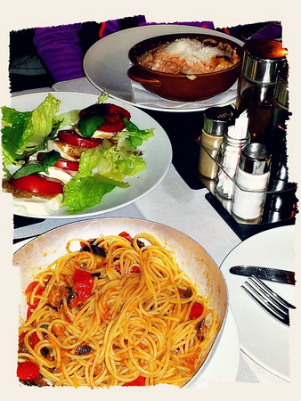 First Dinner in Rome Italy
